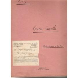 Paris Canaille, partitions pour chaque instrument: piano, accordéon, trompette, trombone...