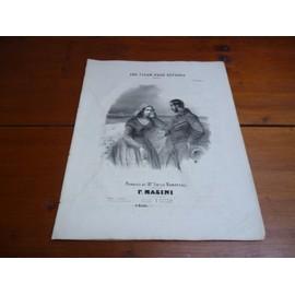UNE FLEUR POUR REPONSE. PARTITION POUR PIANO ET CHANT.- Romance par F. MASINI