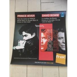 PRINCE / DAVID BOWIE PLV FNAC BEST OF 2016 PAPIER EPAIS