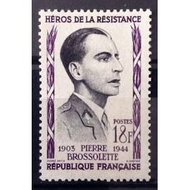 France - Résistants 1957 - Pierre Brossolette 18f (Impeccable n° 1103) Neuf** Luxe - N14057