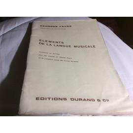 Éléments de la langue musicale INITIATION AU SOLFÈGE