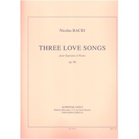 three love songs pour soprano et piano opus 96