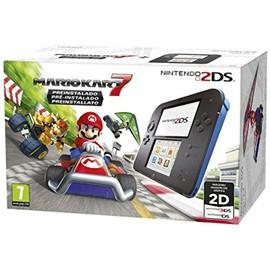 Image Console Nintendo 2ds Noir / Bleu + Mario Kart 7 Préinstallé
