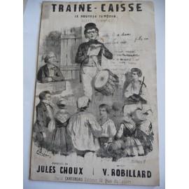 TRAINE-CAISSE le nouveau tambour V.Robillard litho de CUISINIER