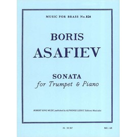 sonata for trumpet and piano - music for brass n° 824