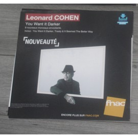 PLV souple 30x30cm LEONARD COHEN you want it darker 2016 FNAC