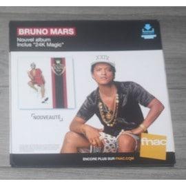 PLV souple 30x30cm BRUNO MARS nouvel album  2016 FNAC