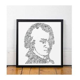 Wolfgang Amadeus Mozart -20x20cm - Portrait du musicien inspiré de sa vie - edition ouverte - le requiem Don Juan cosi fan Tutte flute enchantee