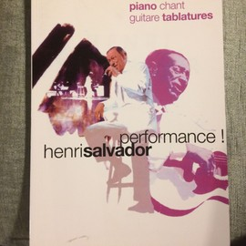 Henri Salvador Performance ! album guitare tablatures piano accords score partition
