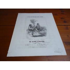 PARTITION XIXe pour PIANO et CHANT/C'EST PIETRO SEUL QUE J'AIME. ROMANCE