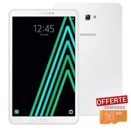Samsung Galaxy Tab A6 SM-T580NZWAXEF + Micro SD 16 Go offerte - 10,1 WUXGA - 2Go RAM - Android 6.0 - Octo Core - ROM 16Go - WiFi