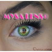 b941ada11af6 Mysa Lens® Lentilles De Contact De Couleur Fantaisie Vert   Green 3 Ton +  Solution