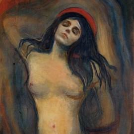 Edvard Munch Poster Reproduction Sur Toile, Tendue Sur Châssis - Madonna, 1894-1895 (70x70 cm)