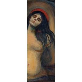 Edvard Munch Poster Reproduction Sur Toile, Tendue Sur Châssis - Madonna, 1894-1895 (90x30 cm)