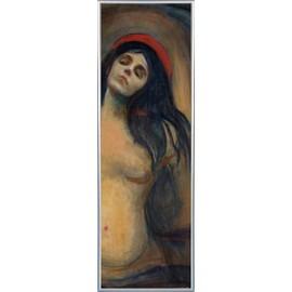 Poster Reproduction encadré: Edvard Munch - Madonna, 1894-1895 (158x53 cm), Cadre Plastique, Argent