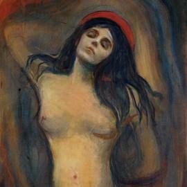 Edvard Munch Poster Reproduction Sur Toile, Tendue Sur Châssis - Madonna, 1894-1895 (40x40 cm)