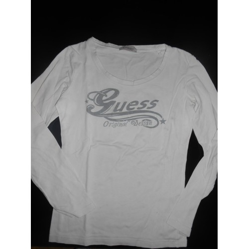 Sous pull <strong>guess</strong> s blanc