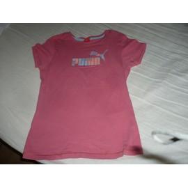 T-shirt Puma Coton 12 ans Rose