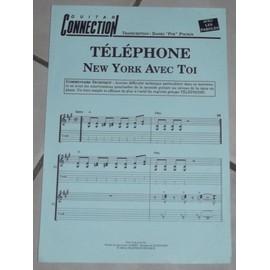 PARTITION ** NEW YORK AVEC TOI ** TELEPHONE GUITARE ET PAROLES