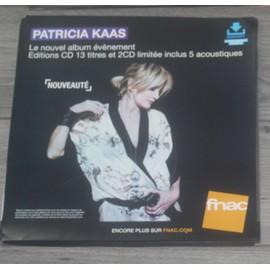 PLV souple 30x30cm PATRICIA KAAS nouvel album 2016 FNAC