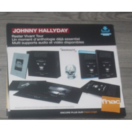 PLV souple 30x30cm JOHNNY HALLYDAY rester vivant tour  2016 FNAC
