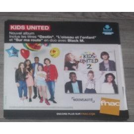 PLV souple 30x30cm KIDS UNITED 2 nouvel album 2016 FNAC