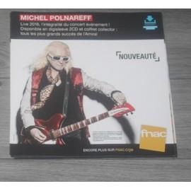 PLV souple 30x30cm MICHEL POLNAREFF live  2016 FNAC