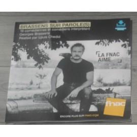 PLV souple 30x30cm Georges BRASSENS sur parole (s) 2016 FNAC