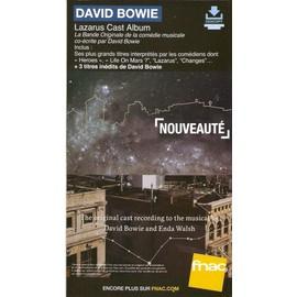 PLV cartonnée rigide 14x25cm DAVID BOWIE lazarus cast album 2016 FNAC
