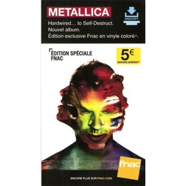 PLV cartonnée rigide 14x25cm METALLICA hardwired...to self-destruct  2016 FNAC