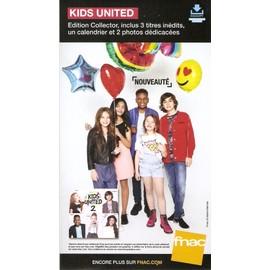 PLV cartonnée rigide 14x25cm KIDS UNITED 2 nouvel album  2016 FNAC