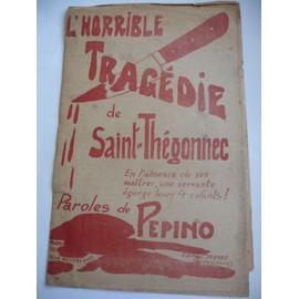 L'horrible Tragédie de Saint-Thégonnec recueil de 6 chansons de rue