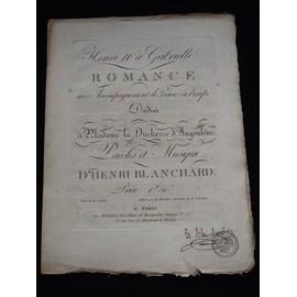 Henri IV á Gabrielle romance dédiée à la duchesse d'Angoulême Henri Blanchard