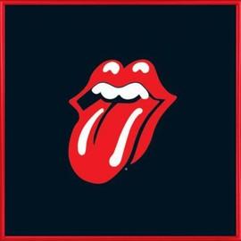 Poster Reproduction encadré: Rolling Stones - Langue, Logo (40x40 cm), Cadre Plastique, Rouge
