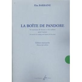 La Boîte De Pandore - 54 Exercices de Lecture et de Rythme Pour le Piano. Edition Manuscrite.
