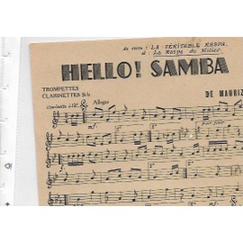 HELLO! SAMBA - JOSE ALIX - LA VERITABLE RASPA - LA RASPA DU MILIEU