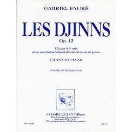 les djinns opus 12 pour choeur à 4 voix (satb) et piano