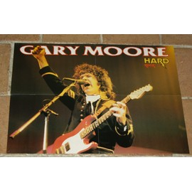 poster affiche magazine revue hard rock gary moore 56x44cm thin lizzy