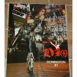 poster affiche magazine revue hard rock ronnie james dio 56x44cm rainbow black sabbath