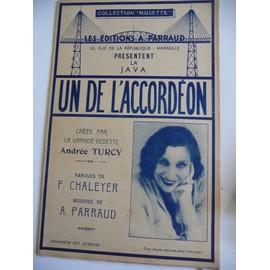 UN de L'ACCORDEON Andrée Turcy, A.Parraud