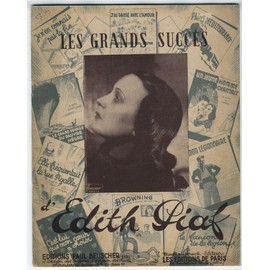 Les Grands Succès d' Edith Piaf (partitions piano/voix de 10 Chansons)