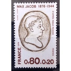 France - Personnages Célèbres - Max Jacob 0,80+0,20 (Impeccable n° 1881) Neuf** Luxe - Année 1976 - N14676