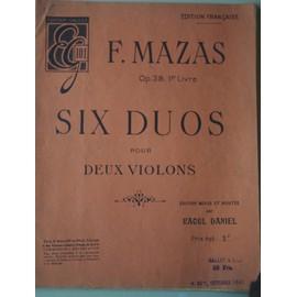 Six Duos pour deux violons edition Francaise op 39 1er livre