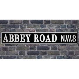 The Beatles Poster Reproduction Sur Toile, Tendue Sur Châssis - Abbey Road N.w. 8 (50x100 cm)