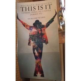 "Michael JACKSON PLV ""This is it"" 150 cmxs x 60"