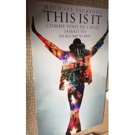 "Michael JACKSON PLV ""This is it"" 190 cms x 110 cms"