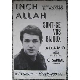 ADAMO Salvatore : Inch Allah - Sont-ce vos bijoux. 1966