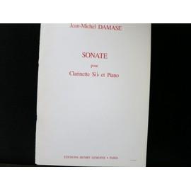 Jean-Michel Damase sonate pour clarinette et piano