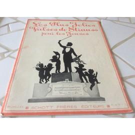 Livre de 8 partitions VALSES DE JOHANN STRAUSS pour les jeunes