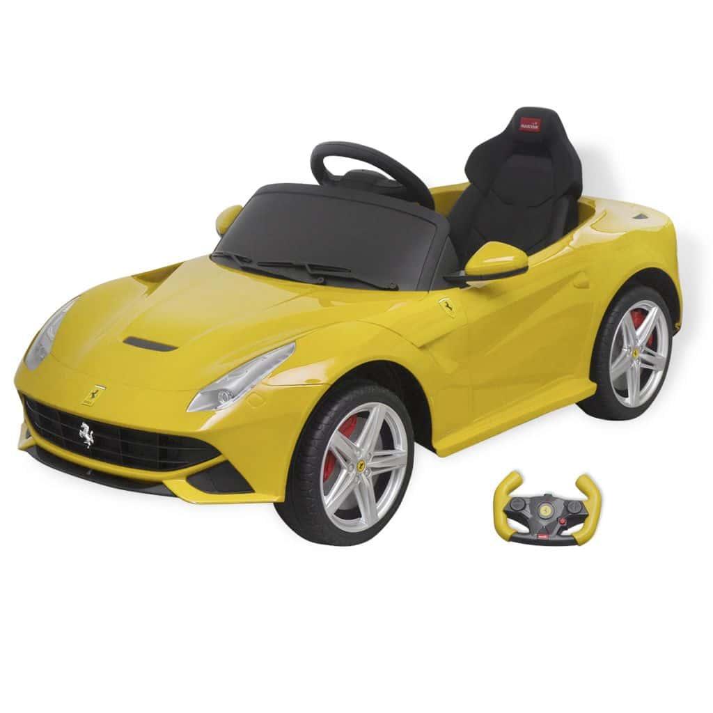 Annonce Vidaxl Voiture De Course Ferrari F12 Jaune 6 V Avec Télécommande 883524aa112